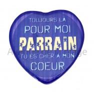 Magnet Coeur Parrain
