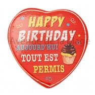 Magnet Coeur Happy Birthday