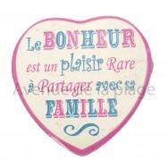 Magnet Coeur Le Bonheur