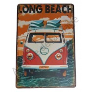 Plaque vintage Van de surfeur Long Beach
