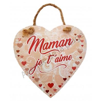 "Coeur message ""Maman je t'aime"""
