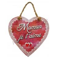 """Coeur à suspendre """"Maman je t'aime"""""""