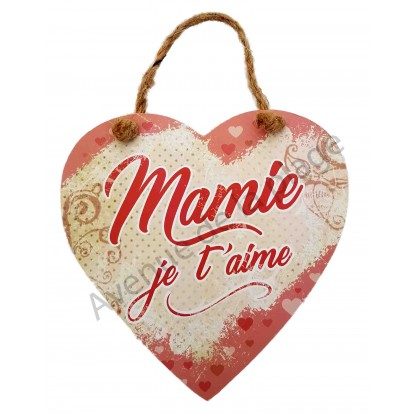 "Coeur message ""Mamie je t'aime"""