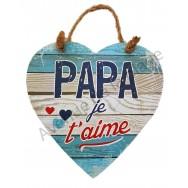 "Coeur message ""Papa je t'aime"""