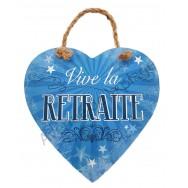 "Coeur message ""Vive la retraite"""