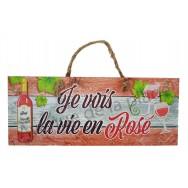 Panneau Je vois la vie en Rosé