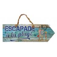 Pancarte Escapade à la plage