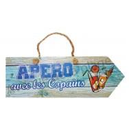 Pancarte Apéro avec les Copains