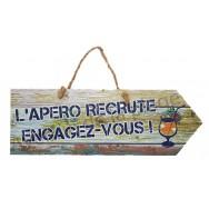 Pancarte L'apéro recrute Engagez-vous