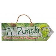 Pancarte Ti'Punch Comme sous les Tropiques