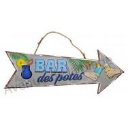 Flèche décorative Bar des potes