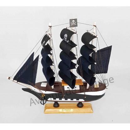 Maquette décorative voilier Pirate 24 cm