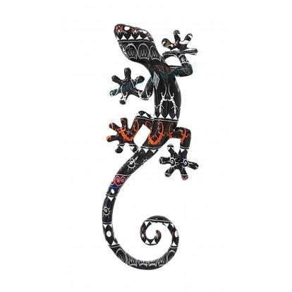 Gecko mural bariolé 21 cm B