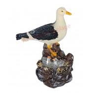 Statue mouette et ses petits dans le nid 10 cm