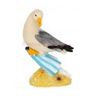 Mouette posée sur parasol de plage 12 cm