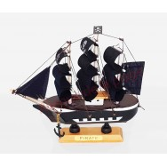 "Maquette décorative voilier ""Pirate"" 16 cm"