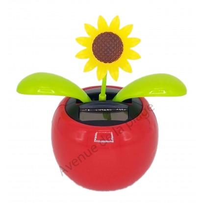 Fleur tournesol solaire qui se balance A