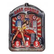 Plaque métal Pin-up et pompes à essence