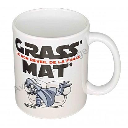 """Mug humoristique """"Grass' Mat' Le non réveil de la Force"""""""