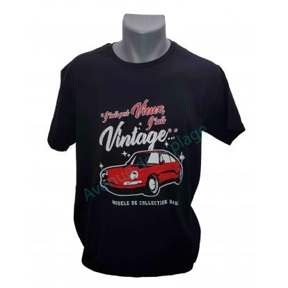 """T-shirt humoristique """"J'suis pas vieux, J'suis vintage"""""""