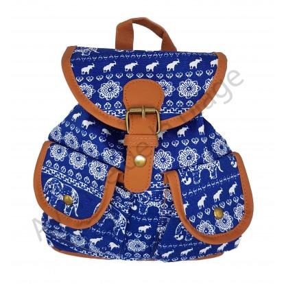 Mini sac à dos Éléphant bleu