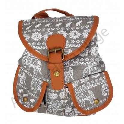 Mini sac à dos Éléphant gris