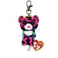 Peluche Ty Beanie Boo's porte clé Dotty le léopard