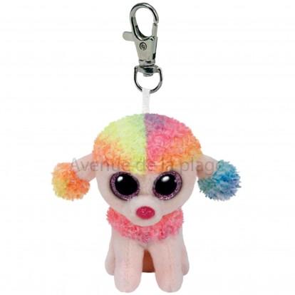 Peluche Ty Beanie Boo's porte clé Rainbow le caniche