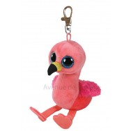 Peluche Ty Beanie Boo's porte clé Gilda le flamant rose