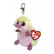 Peluche Ty Beanie Boo's porte clé Petunia l'ornithorynque