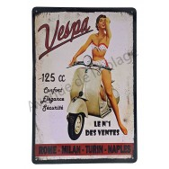 Plaque vintage scooter Vespa