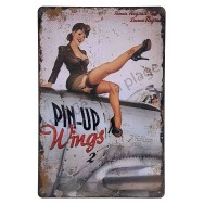 Plaque vintage Pin-up Wings