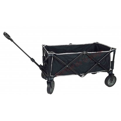 Chariot de plage noir pliant en métal