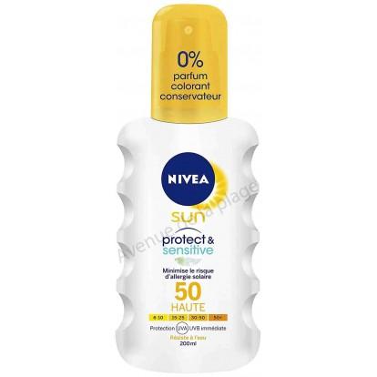 Crème solaire Nivéa spray très haute protection FPS 50