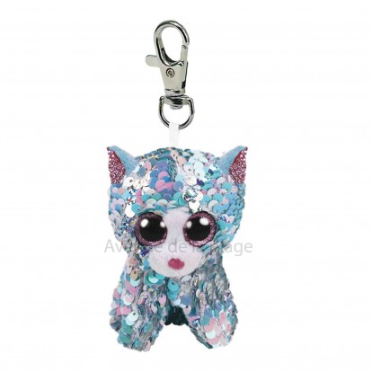 Peluche Ty Flippables porte clé Whimsy le chat