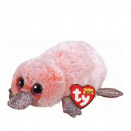 Peluche Ty Beanie Boo's Wilma l'ornithorynque rose 22 cm
