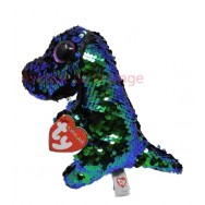 Peluche Ty Flippables Crunch le dinosaure 16 cm