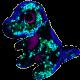 Peluche Ty Flippables Crunch le dinosaure 23 cm