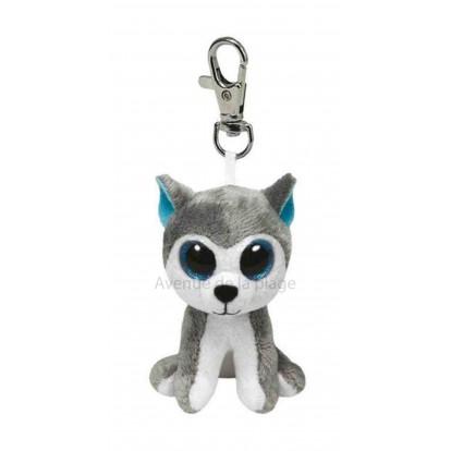 Peluche Ty Beanie Boo's porte clé Slush le husky