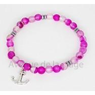 Bracelet bien être Agate rose