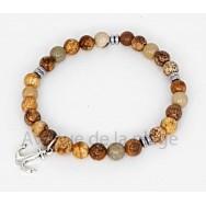 Bracelet bien être en pierre Jaspe paysage