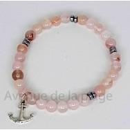 Bracelet bien être en pierre quartz rose