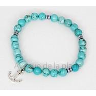 Bracelet bien être en pierre turquoise