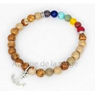 Bracelet 7 chakras et Jaspe