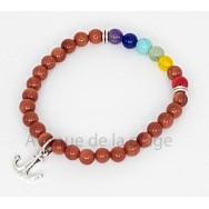 Bracelet 7 chakras et pierre du soleil