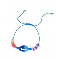 Bracelet coquillage imprimé et perles colorées