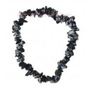 Bracelet élastique en Obsidienne floconneuse - Identité