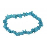Bracelet élastique Howlite bleue - Communication