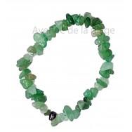 Bracelet élastique Aventurine verte - Anti-stress