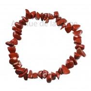 Bracelet élastique en Jaspe rouge - Énergie vitale